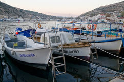 Boats at the pier in Balaclava Stock Image