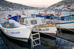 Boats at the pier in Balaclava Royalty Free Stock Image