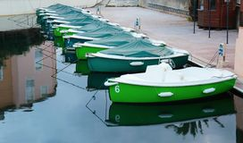 Boats at the pier in Port Grimaud