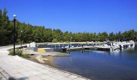 Boats at the pier. Porto Carras Grand Resort. Stock Photo