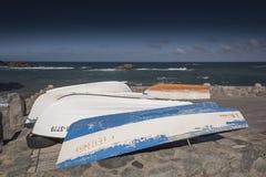 Boats at Playa Taganana Tenerife Stock Photography