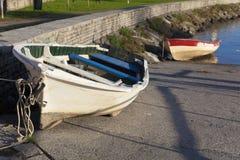 Boats in Plentzia, Bizkaia Royalty Free Stock Images