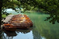 Boats at Plitvice Lakes Royalty Free Stock Image