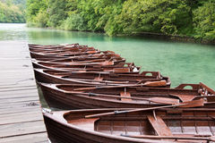 Boats in Plitvice Royalty Free Stock Photography