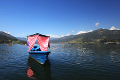 Boats in Pokhara Phewa Lake Royalty Free Stock Photos