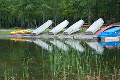 Boats on the Pond Stock Image