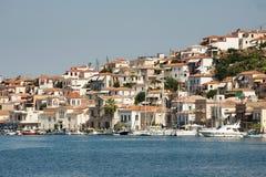 Boats at the Poros island, Greece Stock Photos