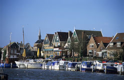 Boats in Port. At Urk, the Netherlands royalty free stock photography