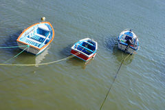Boats in a port b. Several boats in an Asturian port Royalty Free Stock Photo