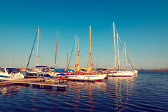 BOATS IN PORT Royalty Free Stock Photography