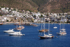 Boats in the Port of Bodrum Stock Photos