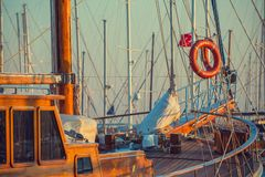 Boats in the port of Bodrum Royalty Free Stock Photos