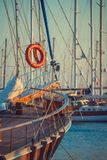 Boats in the port of Bodrum Stock Images