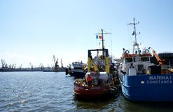 Boats at the Port Constanta,Romania Royalty Free Stock Photography