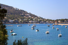 Boats in Port d'Andratx in Majorca Stock Images