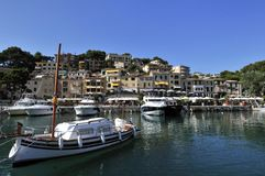 Boats in Port de Soller Royalty Free Stock Image