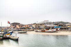 Boats in the port of Elmina, Ghana Stock Images