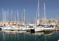 Boats in the port of Gibraltar Royalty Free Stock Photography