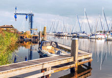 Boats in the port of Holland Stock Photos