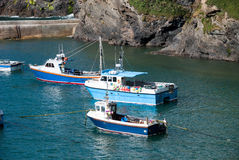 Boats in Port Isaac Royalty Free Stock Images