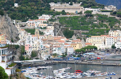 Amalfi along the Tyrrhenian coast, Italy Royalty Free Stock Image
