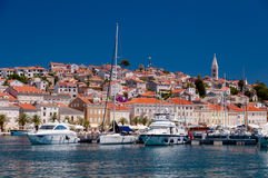 Boats in port at Mali Losinj. In Croatia Stock Photo