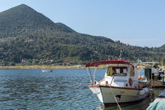 Boats at Port of Nydri Bay, Lefkada, Ionian Islands, Greece Stock Images