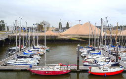 Boats in the port of Ostend Royalty Free Stock Photography
