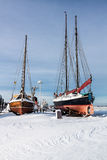 Boats in a port Royalty Free Stock Image
