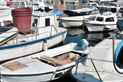 Boats in the port of Rovinj Stock Photos