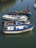 The boats in port. Some boats in harbor Annalong harbor ireland Royalty Free Stock Photography
