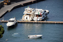 Boats in the port of Sorrento, Italy Stock Photo