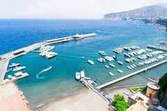 Sorrento, southern Italy. Boats in port of Sorrento, southern Italy Stock Images
