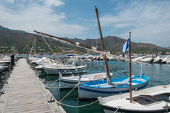 Boats in the port town. Royalty Free Stock Photography