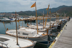 Boats in the port town. Royalty Free Stock Photo