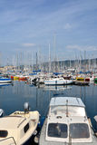 Boats in port Trieste Stock Image