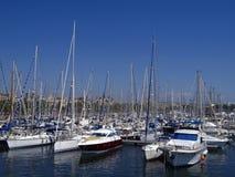 Boats in Port Vell, Barcelona Stock Image