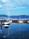 Boats in the port of Vigo Royalty Free Stock Image