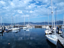 Boats in the port of Vigo Stock Photography
