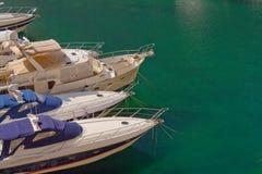 Boats in Portamaso harbour. Luxury boats in Portamaso marina in St Julian's, Malta Royalty Free Stock Image