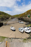 Boats Porth Clais West Wales Royalty Free Stock Images