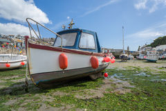 Boats in porthleven harbour Royalty Free Stock Photo