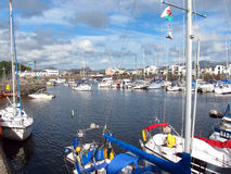 Boats in Porthmadog harbour, Wales. Royalty Free Stock Photos