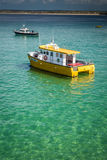 Boats in Porthminster bay Royalty Free Stock Photo