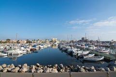 Boats in the Portixol marina Stock Photography