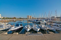 Boats in the Portixol marina Royalty Free Stock Photography