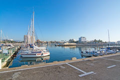 Boats in the Portixol marina Royalty Free Stock Images