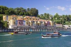 Boats in Porto. Boats at the Douro River, Porto Royalty Free Stock Image