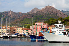 Boats At Porto Azzurro, Elba Island, Italy Royalty Free Stock Photography