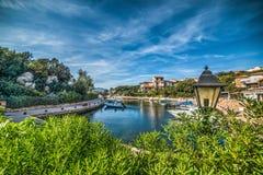 Boats in Porto Rotondo. Sardinia stock photo